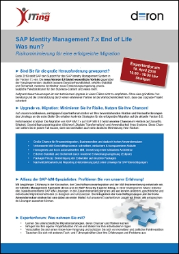 SAP IdM 7.x – End of Life!